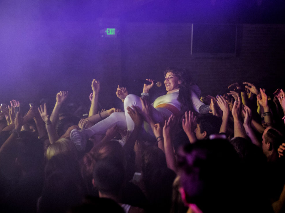 Purity Ring at Showbox SoDo in Seattle, WA on June 16, 2015.