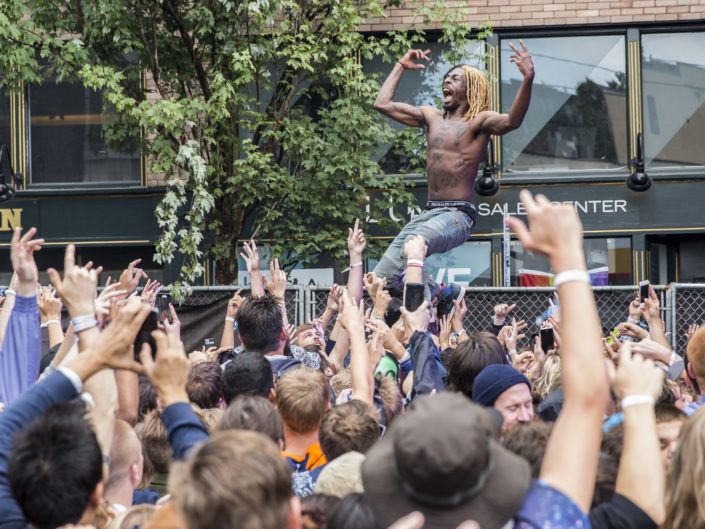 Flatbush Zombies at Capitol Hill Block Party in Seattle, WA on July 26, 2015.