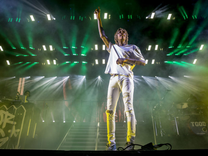 Wiz Khalifa at White River Amphitheater in Auburn, WA on August 2, 2015.