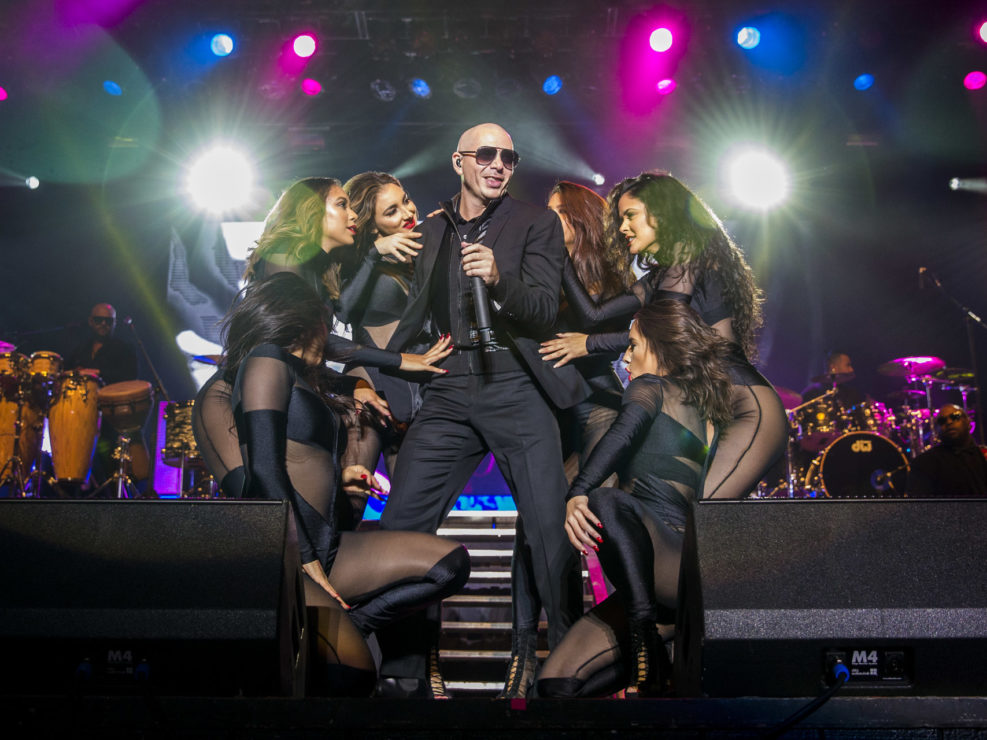 Pitbull at the Washington State Fair in Puyallup, WA on September 27, 2015.
