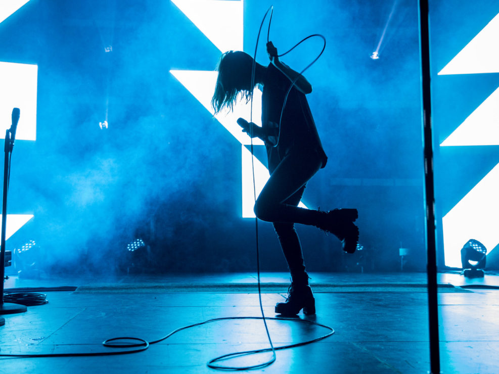 CHVRCHES at Paramount Theatre in Seattle, WA on October 14, 2015.