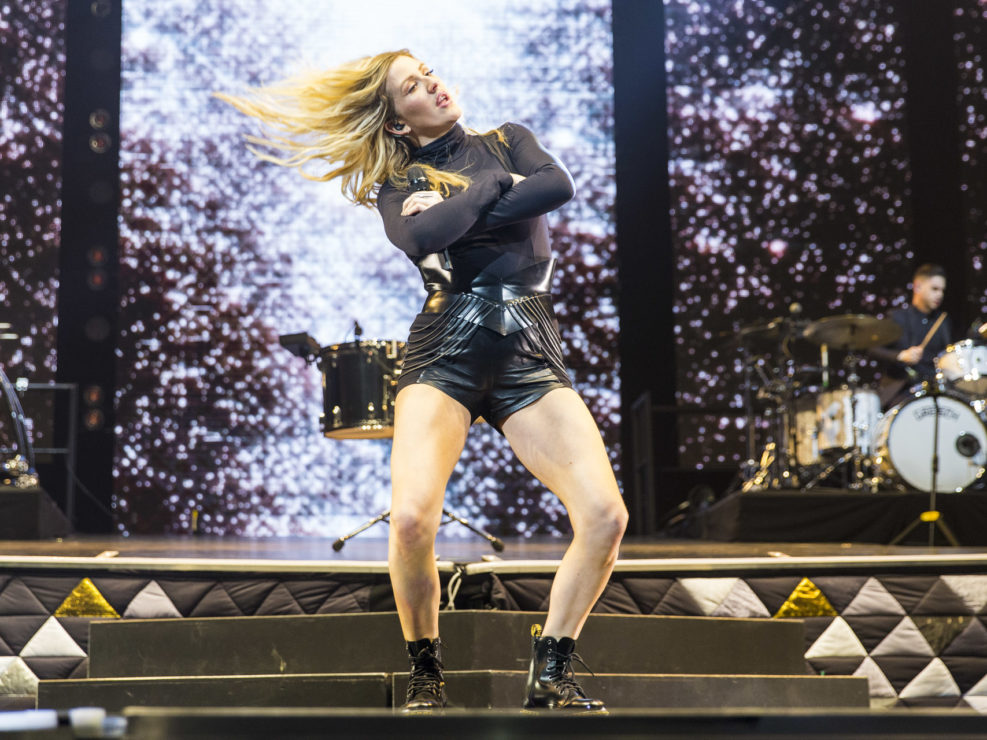 Ellie Goulding at the KeyArena in Seattle, WA on April 2, 2016.