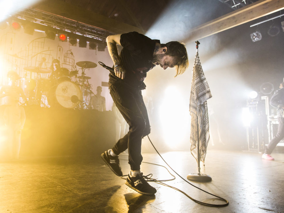 The Used in Seattle, WA at Showbox SoDo on April 5, 2016.