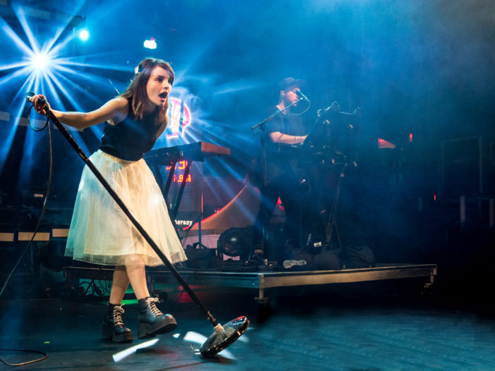 CHVRCHES at Capitol Hill Block Party 2016 in Seattle, WA on July 24, 2016.