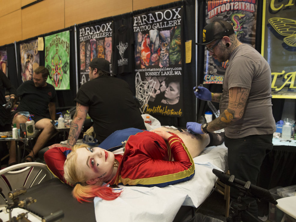 Tattoo Expo in Seattle, WA on August 21, 2016.