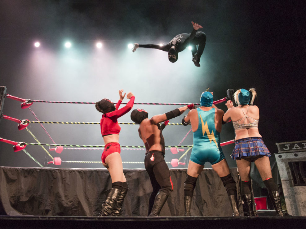 Luchafer opening for Puscifer at the Paramount Theatre in Seattle, WA on December 3, 2015.
