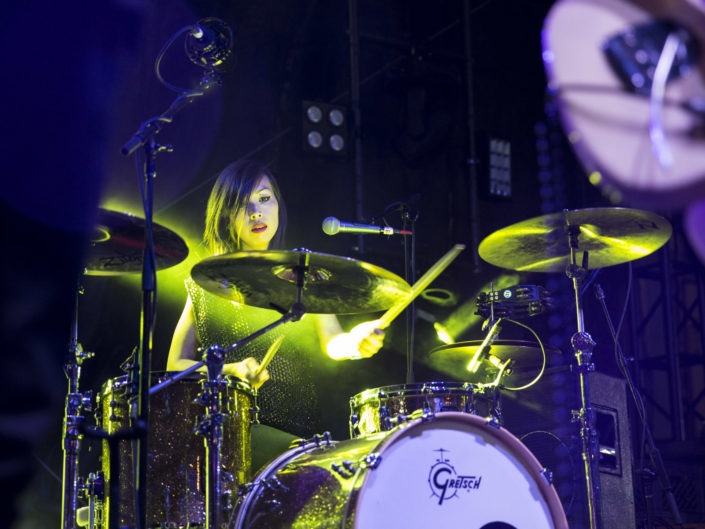 Dum Dum Girls at Capitol Hill Block Party in Seattle, WA on July 27, 2014.