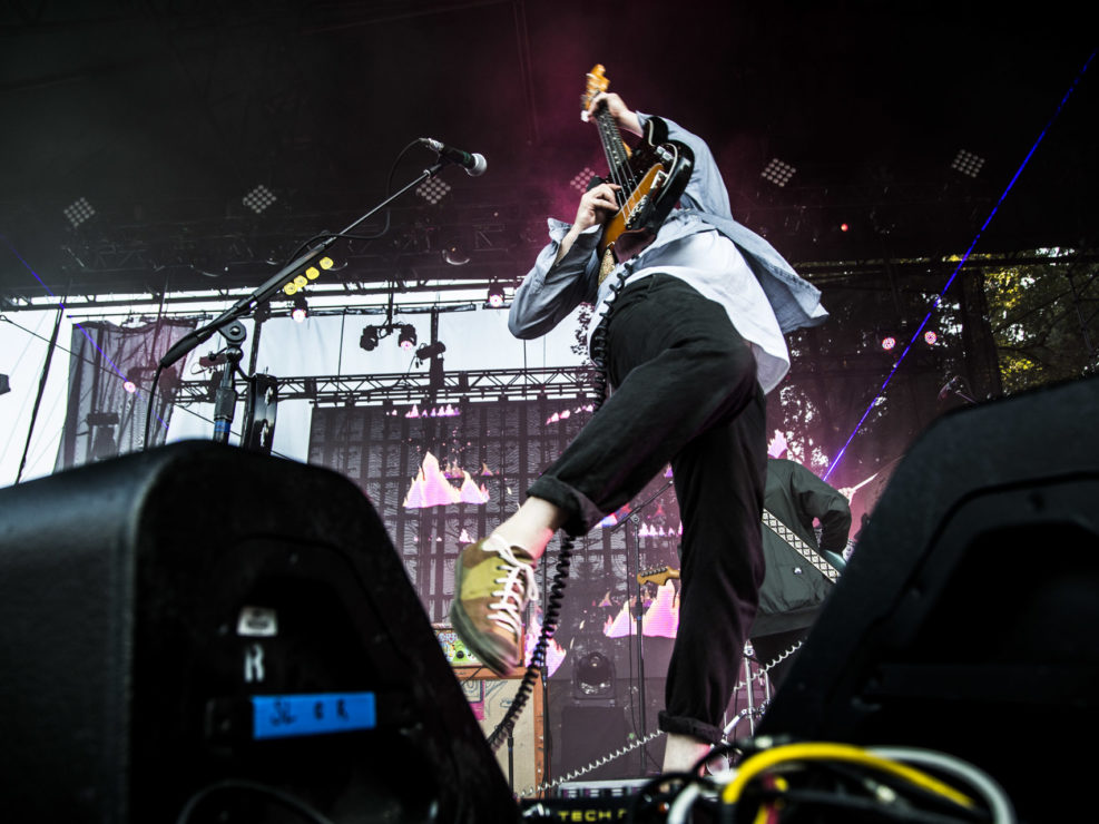 Portugal. The Man at Marymoor in Redmond, WA on August 10, 2014.
