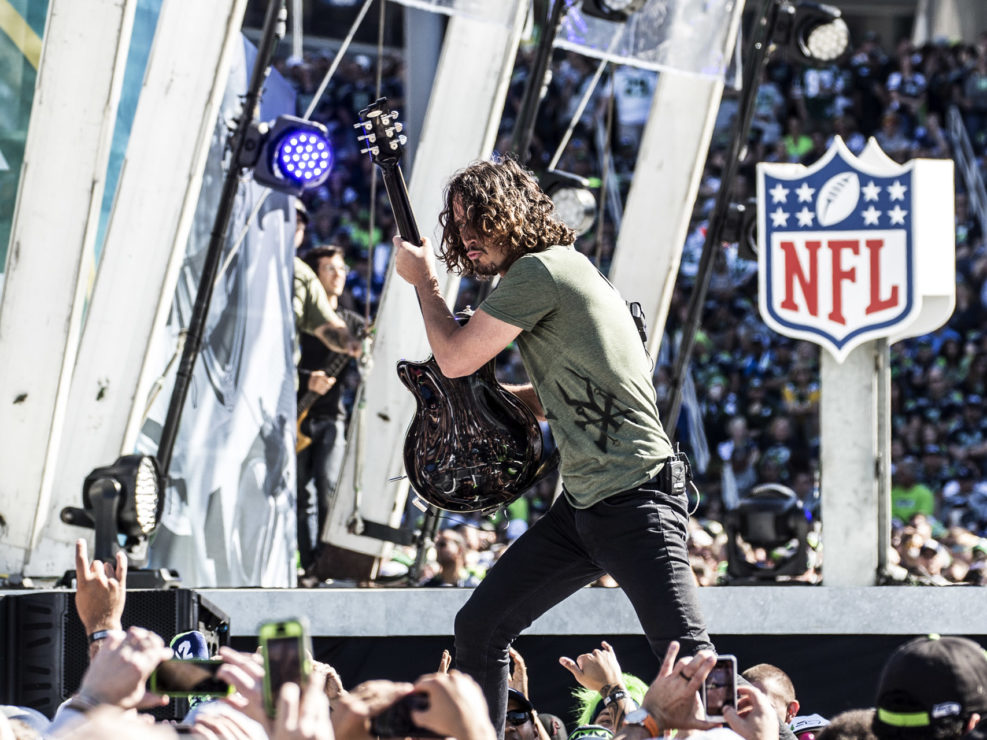 Soundgarden at the NFL Kickoff Party in Seattle, WA on September 4, 2014.
