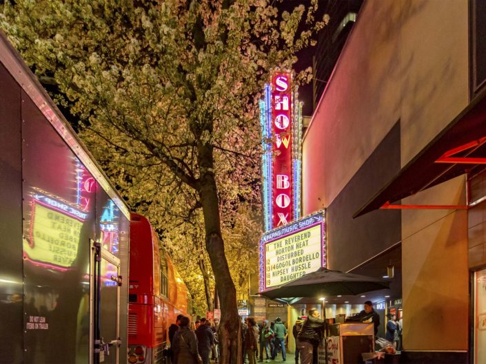 View of the Showbox in the Spring in Seattle, WA on March 13, 2016.